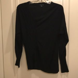 Beautiful black sweater with neck and side details